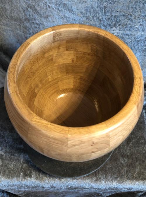egetræs skål. strikkeskål